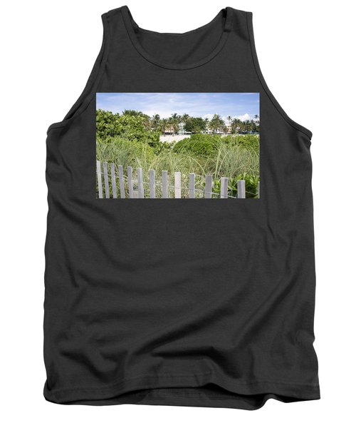 Tank Top featuring the photograph Beach Path by Laurie Perry
