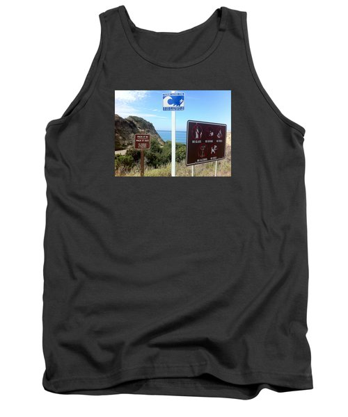 Beach Signs San Clemente Tank Top