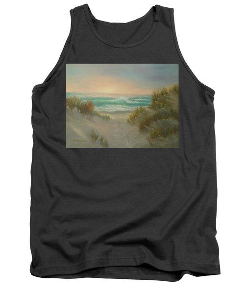 Cape Cod Beach Sunset Dunes Print  Tank Top