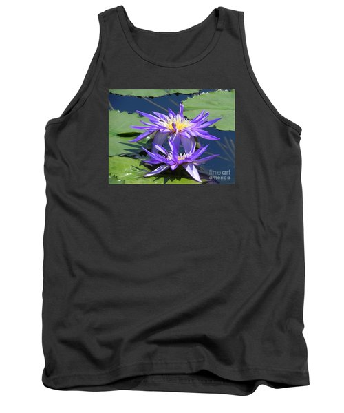 Beautiful Purple Lilies Tank Top by Chrisann Ellis