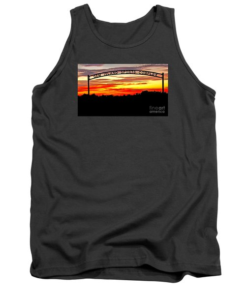 Beautiful Sunset And Emmett Sport Comples Tank Top by Robert Bales