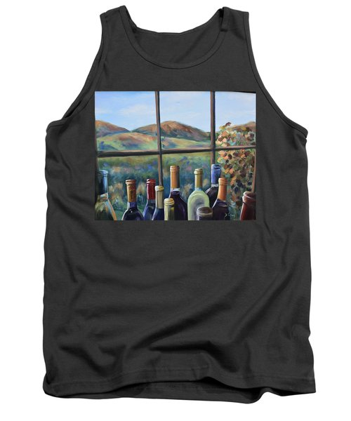 Tank Top featuring the painting Beautiful View by Donna Tuten