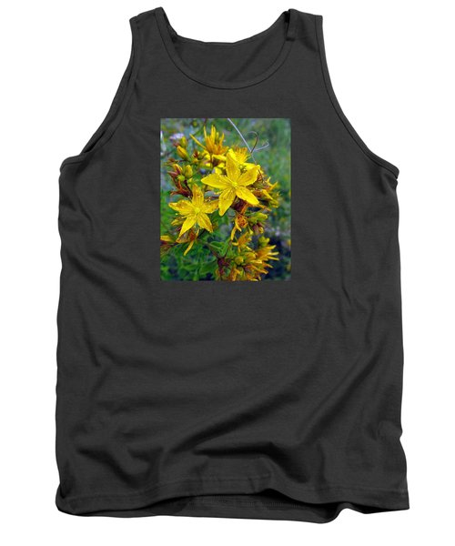 Beauty In A Weed Tank Top by I'ina Van Lawick