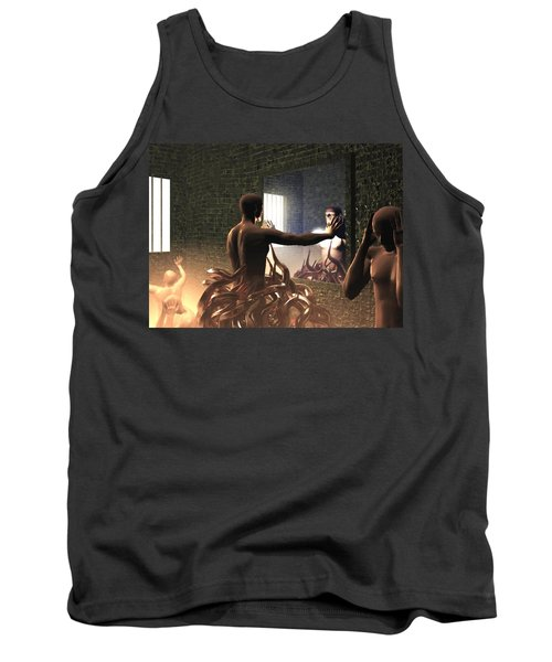 Tank Top featuring the digital art Becoming Disturbed by John Alexander
