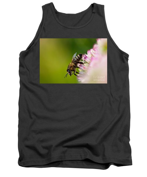 Bee Sitting On A Flower Tank Top