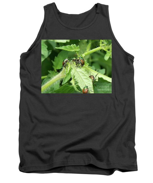 Tank Top featuring the photograph Beetle Posse by Thomas Woolworth