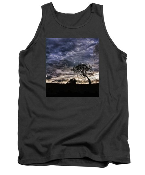 Nova Scotia's Lonely Tree Before The Storm  Tank Top