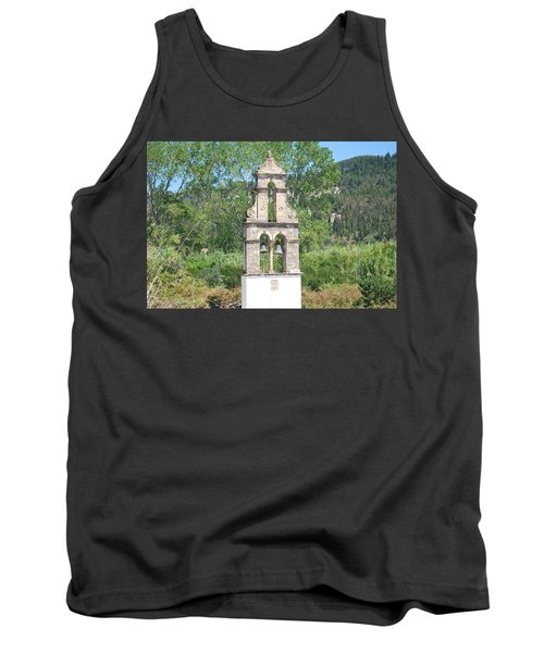 Tank Top featuring the photograph Bell Tower 1584 1 by George Katechis