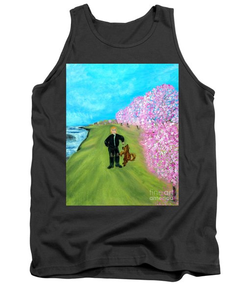 Tank Top featuring the painting Best Friends. Painting. Promotion by Oksana Semenchenko