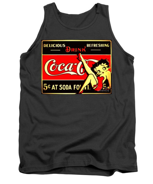 Betty Boop On Coke Tank Top