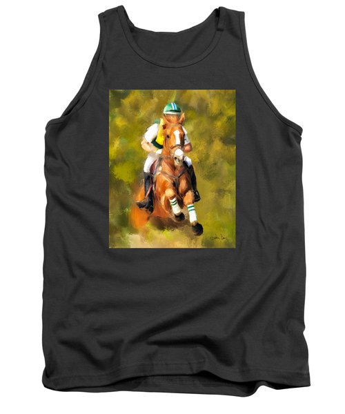 Tank Top featuring the photograph Between The Flags by Joan Davis