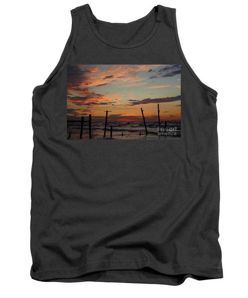 Tank Top featuring the photograph Beyond The Border by Barbara McMahon