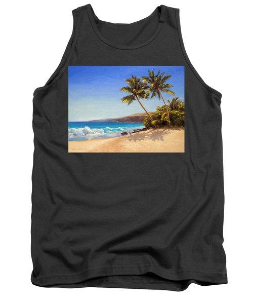 Hawaiian Beach Seascape - Big Island Getaway  Tank Top