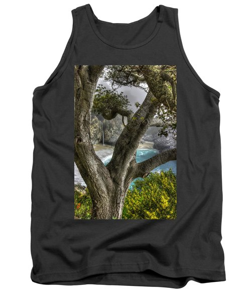 Big Sur Mc Way Falls At Julia Pfeiffer State Park-1 Central California Coast Spring Early Afternoon Tank Top by Michael Mazaika
