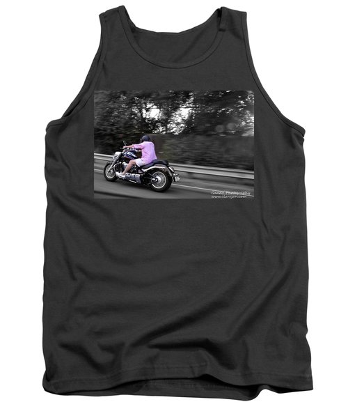 Tank Top featuring the photograph Biker by Gandz Photography