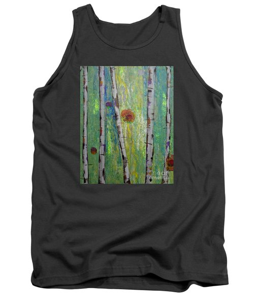 Birch - Lt. Green 5 Tank Top by Jacqueline Athmann