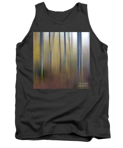 Birch Trees. Abstract. Blurred Tank Top
