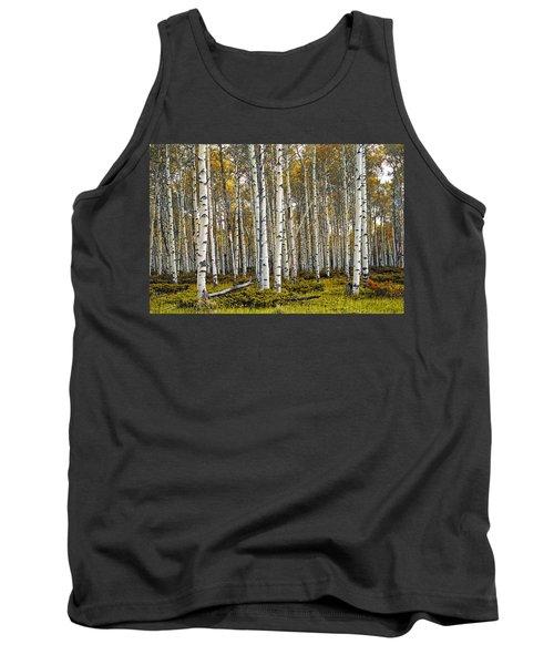Aspen Trees In Autumn Tank Top