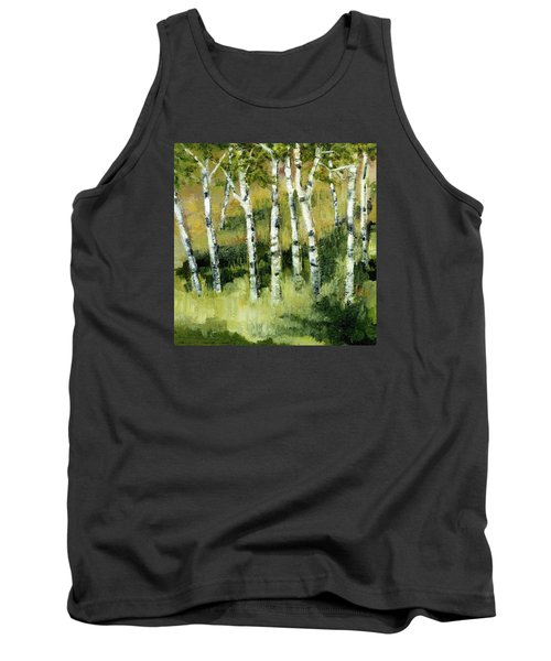 Birches On A Hill Tank Top by Michelle Calkins