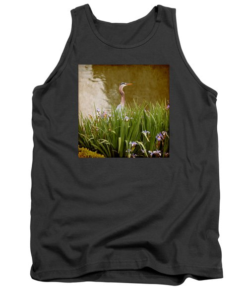 Tank Top featuring the photograph Bird In The Water by Milena Ilieva