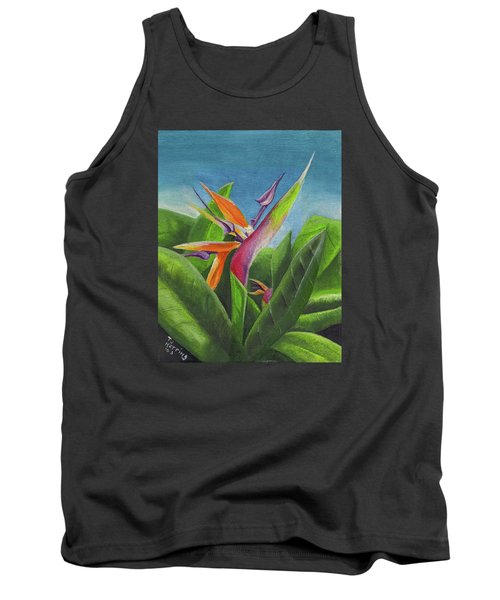 Hawaiian Bird Of Paradise Tank Top