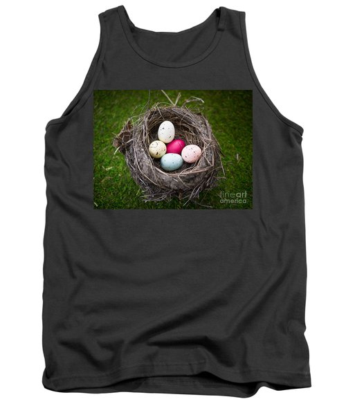 Bird's Nest With Easter Eggs Tank Top