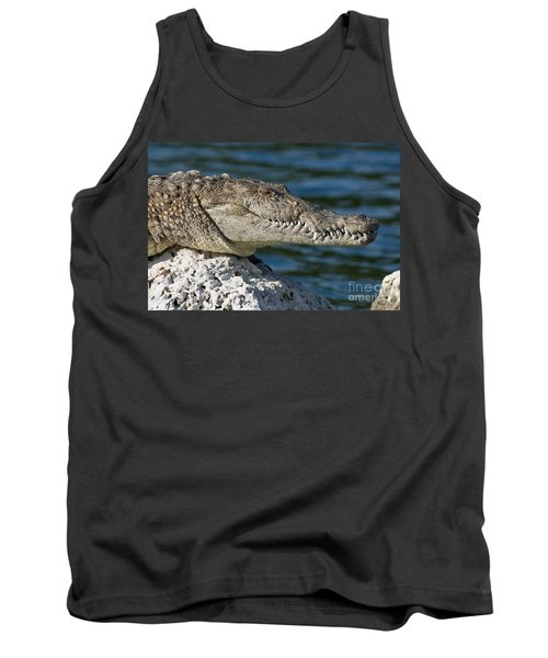 Tank Top featuring the photograph Biscayne National Park Florida American Crocodile by Paul Fearn