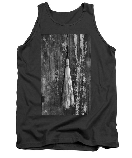 Black And White Broom Tank Top