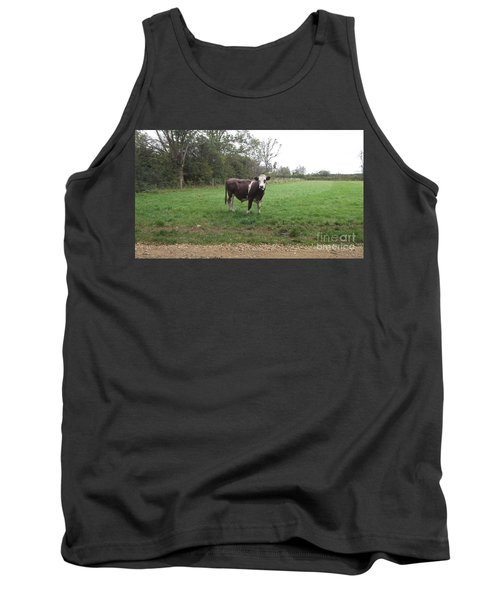 Black And White Bull Tank Top by John Williams