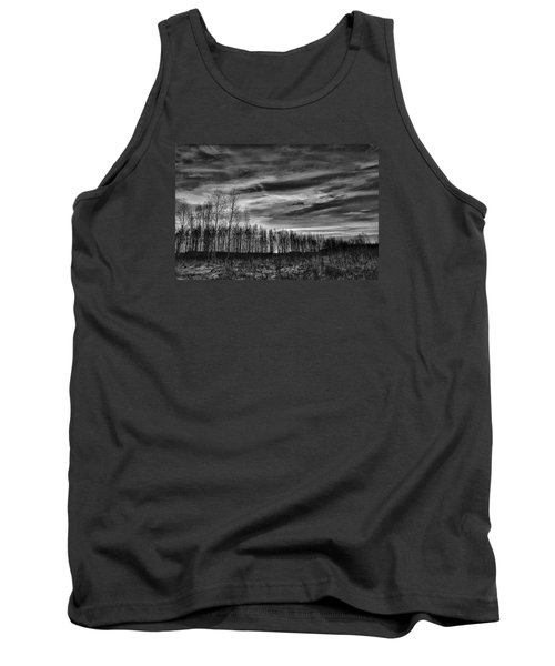 Tank Top featuring the photograph Black And White Grongarn Sky December 16 2014 Colouring The Clouds  by Leif Sohlman