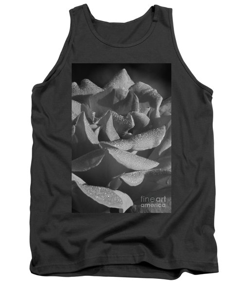 Black And White Morning Rose Tank Top