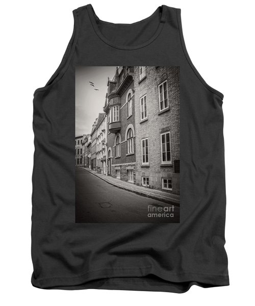 Black And White Old Style Photo Of Old Quebec City Tank Top