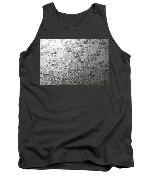 Black And White Rain Tank Top