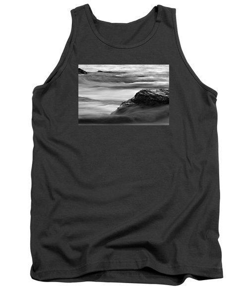 Black And White Seascape Tank Top