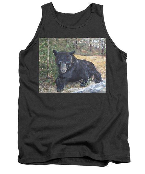 Black Bear - Wildlife Art -scruffy Tank Top