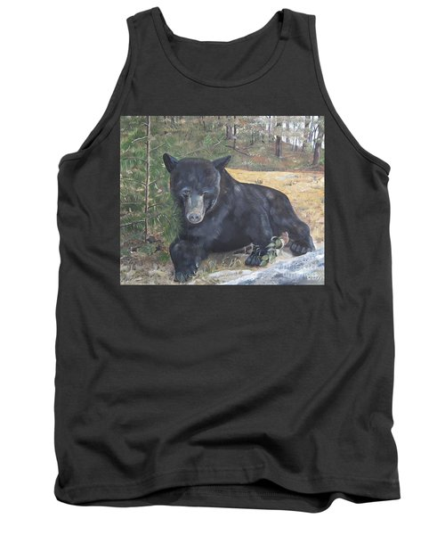 Black Bear - Wildlife Art -scruffy Tank Top