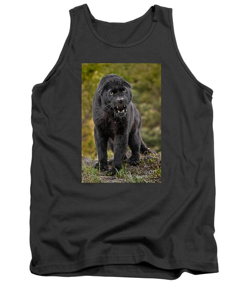 Black Panther Tank Top by Jerry Fornarotto
