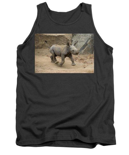 Black Rhinoceros Calf Running Tank Top
