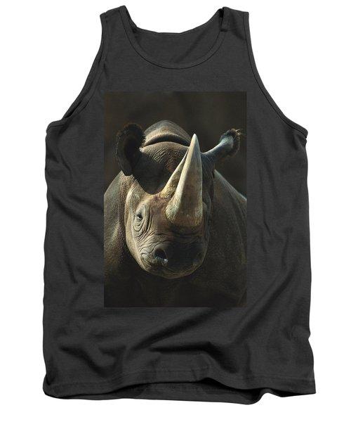 Black Rhinoceros Portrait Tank Top