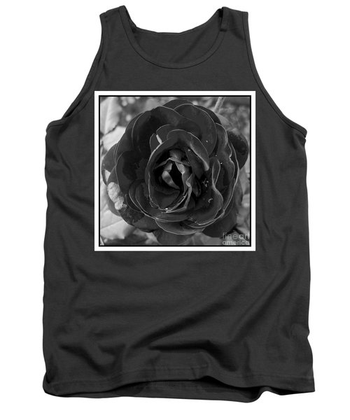 Tank Top featuring the photograph Black Rose by Nina Ficur Feenan