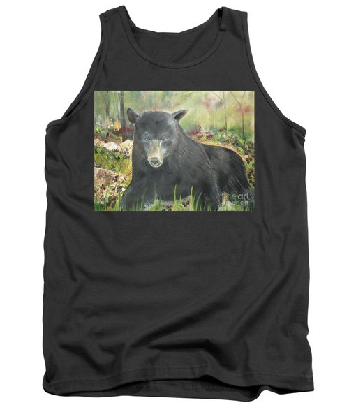 Tank Top featuring the painting Blackberry Scruffy 2 by Jan Dappen