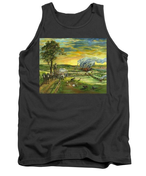 Tank Top featuring the painting Bleeding Kansas - A Life And Nation Changing Event by Mary Ellen Anderson