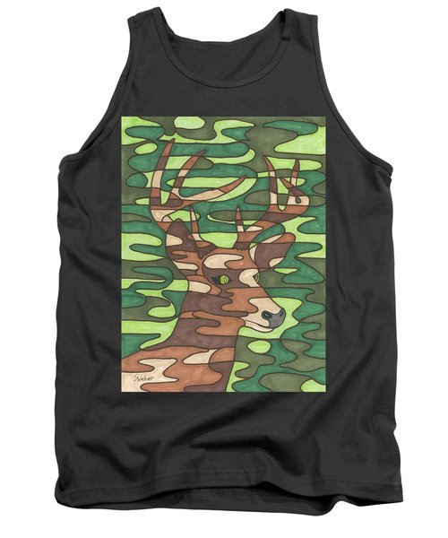Tank Top featuring the painting Blending In by Susie WEBER