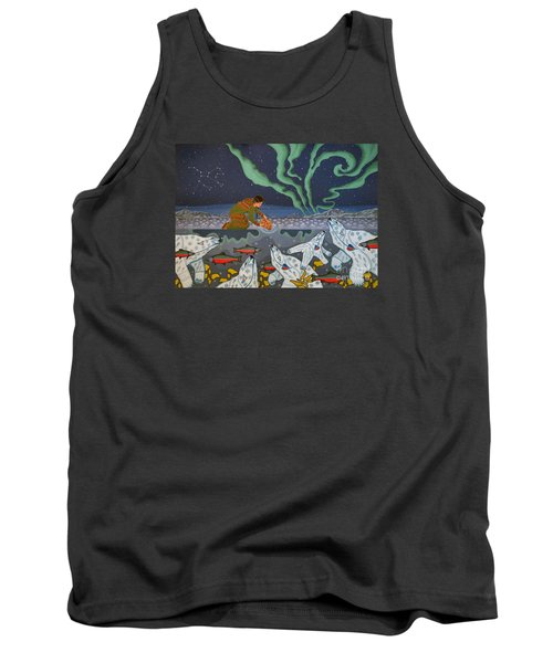 Tank Top featuring the painting Blessing Of The Polar Bears by Chholing Taha