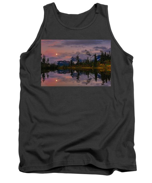 Bloodmoon Rise Over Picture Lake Tank Top
