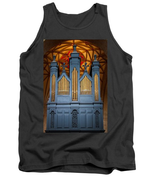 Blue And Gold Music Tank Top