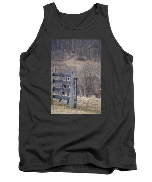 Tank Top featuring the photograph Blue Bird by Heidi Poulin
