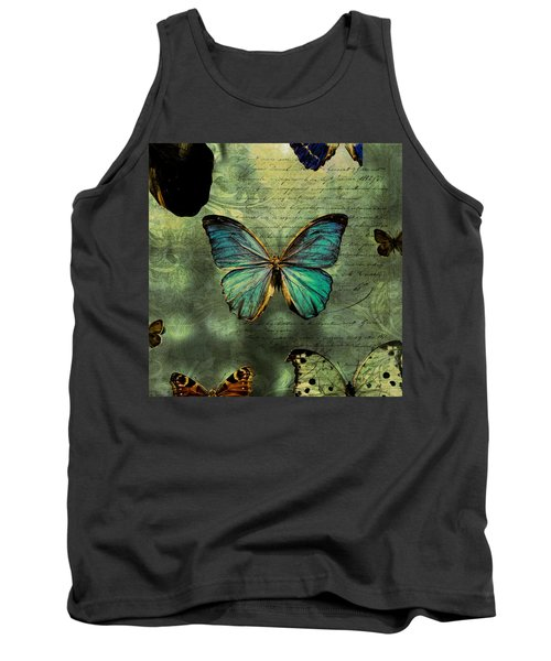 Blue Butterfly Tank Top