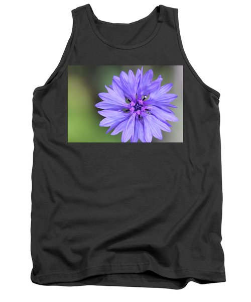Blue Button Tank Top