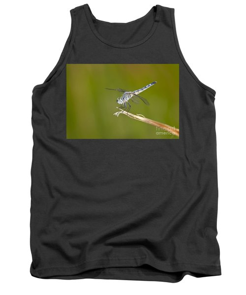 Tank Top featuring the photograph Blue Dasher On The Edge by Bryan Keil